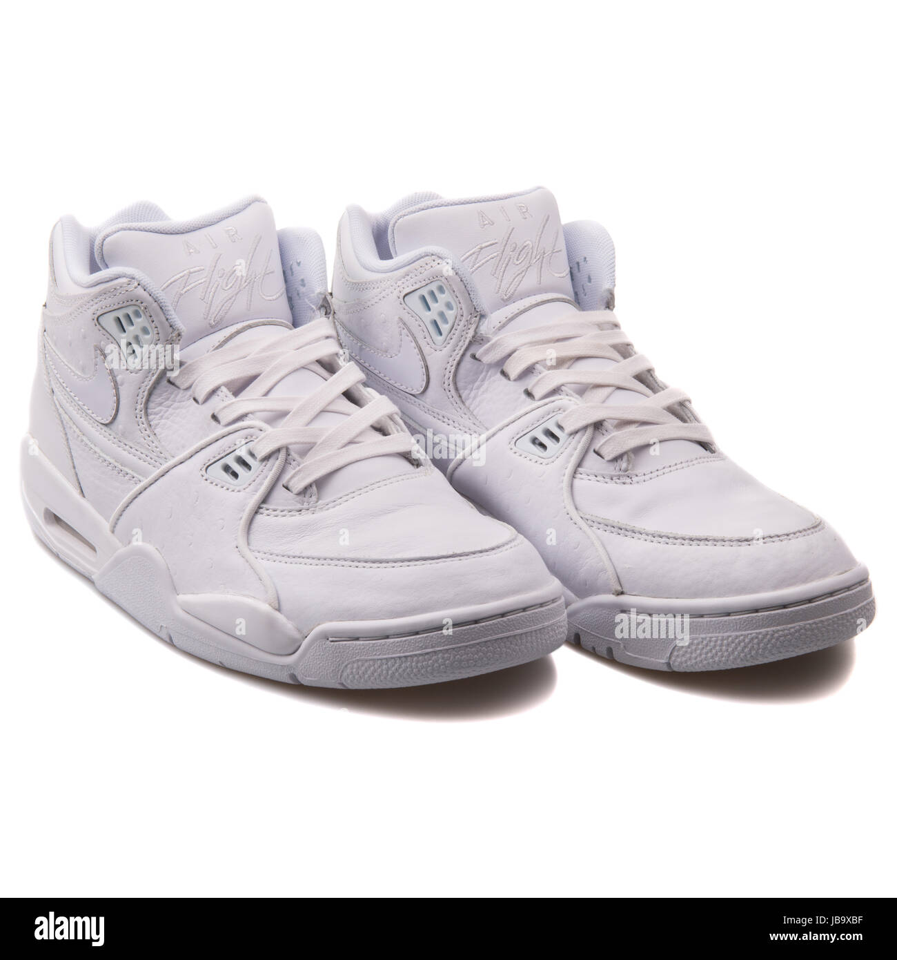 new concept 09cac fd43e Nike Air Flight 89 LE QS White Teal Leather Men s Basketball Shoes -  804605-100