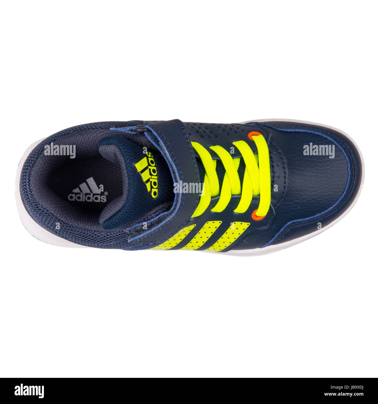 Blue And Yellow Adidas Sneakers High