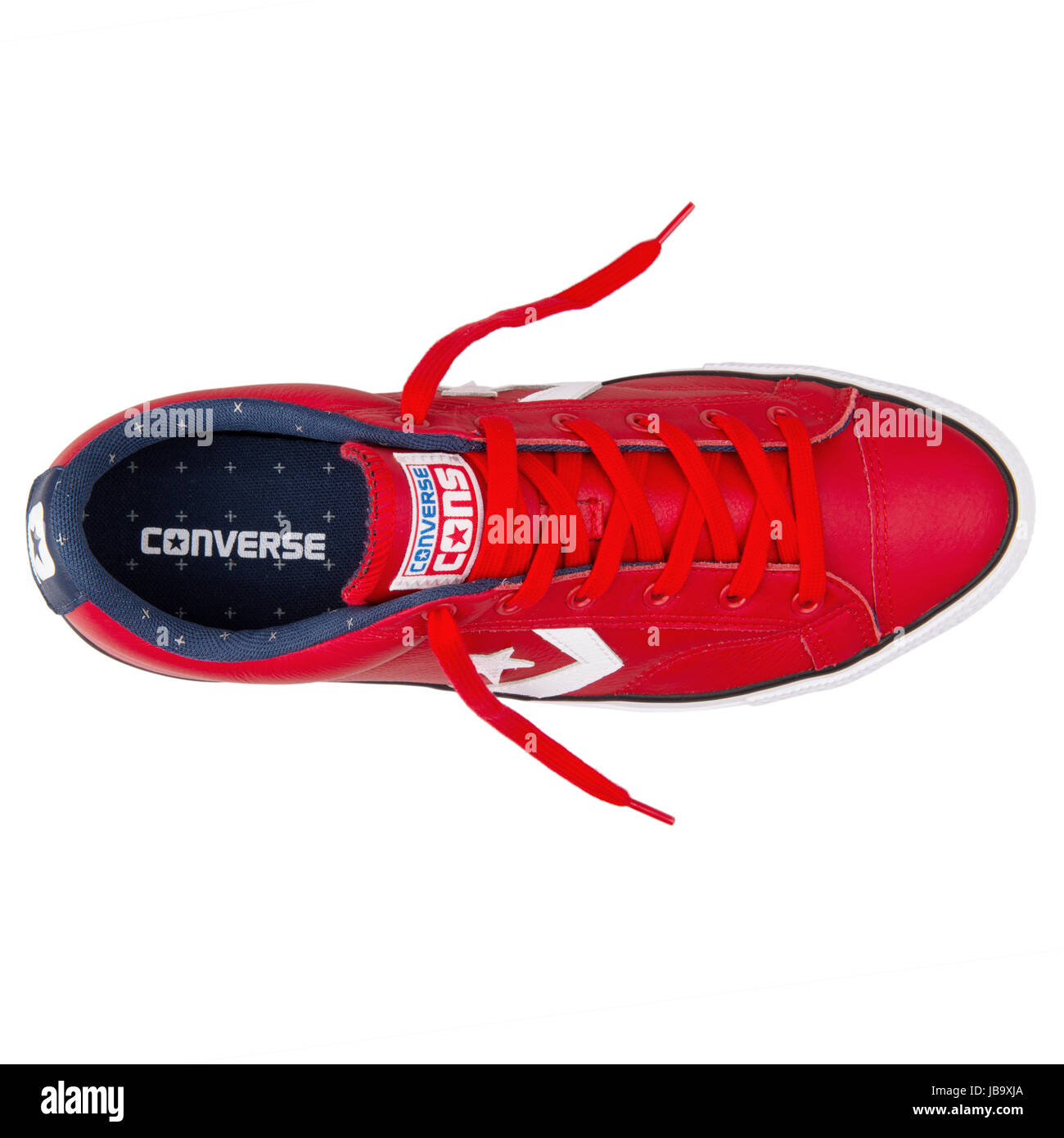 cdfb2417cd9 Converse Chuck Taylor All Star Player OX Red Leather and Casino White  Unisex Shoes - 149770C