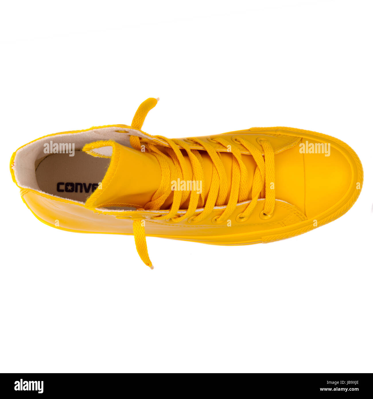89e58086689cce Converse Chuck Taylor All Star Hi Wild Honey Yellow Unisex Shoes - 144747C  - Stock Image