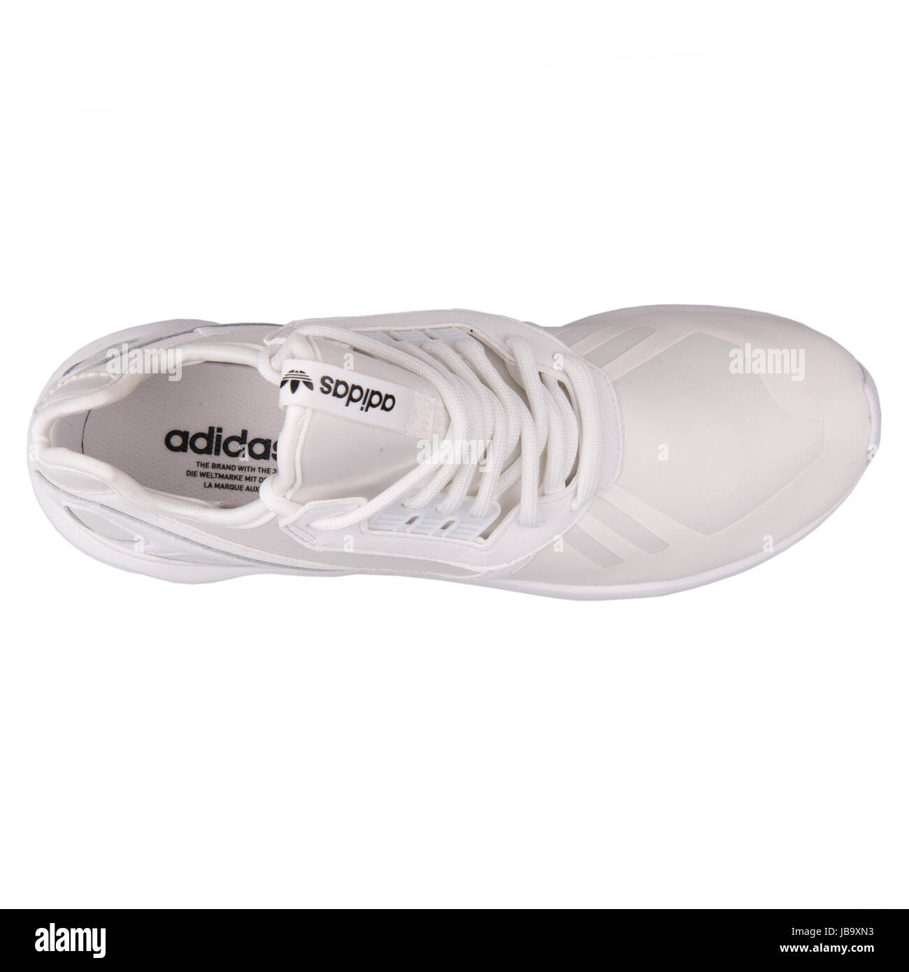 Adidas Tubular Runner White Men's Running Shoes - S83141 Stock Photo