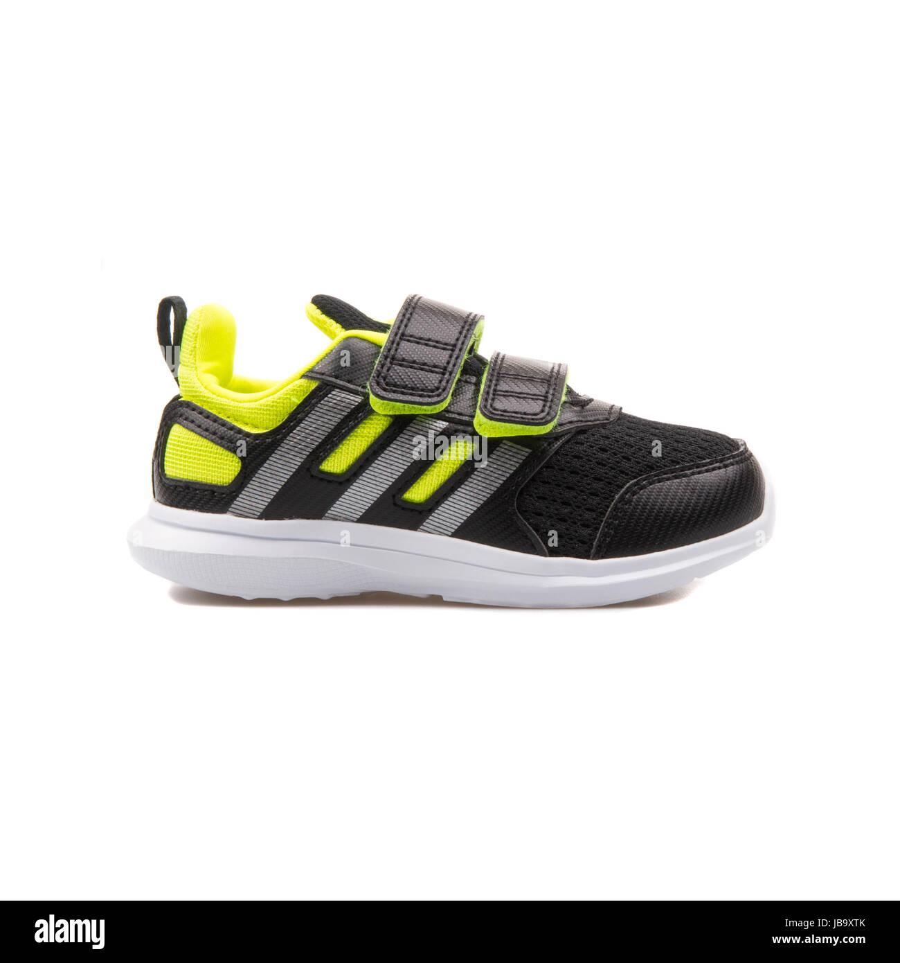 Adidas Hyperfast 2.0 CF i Black and Neon Yellow Children's