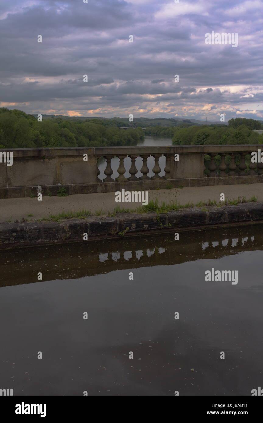 Lancaster Canal Lune Aqueduct - Stock Image