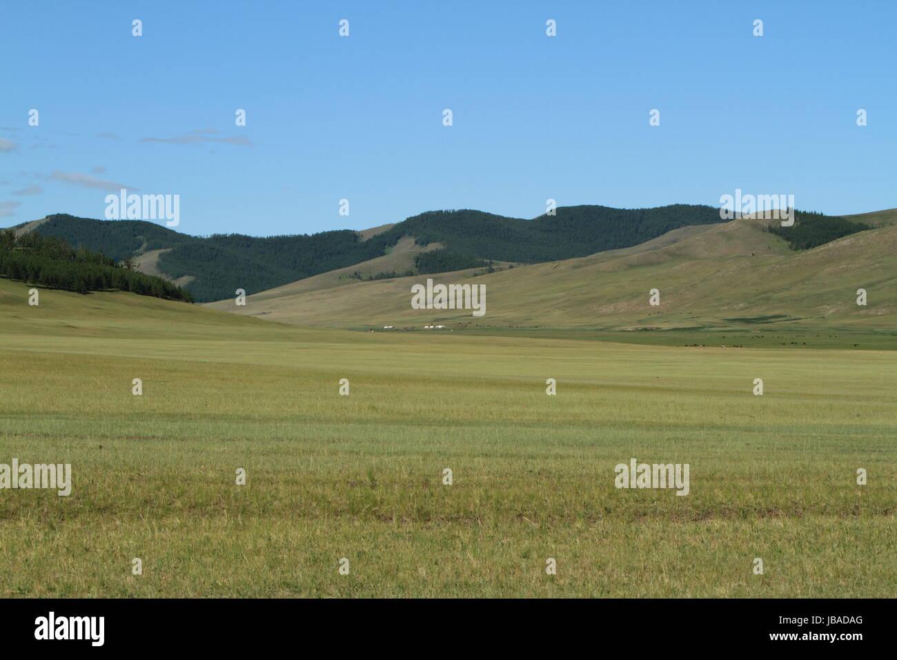 width mongolia - Stock Image