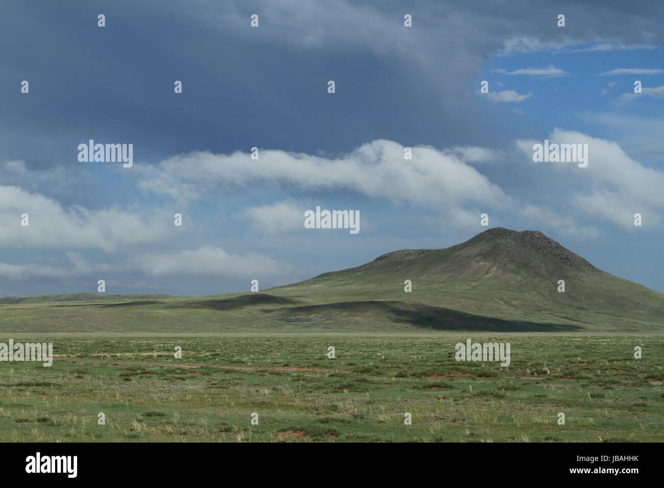 khustain national park in mongolia - Stock Image