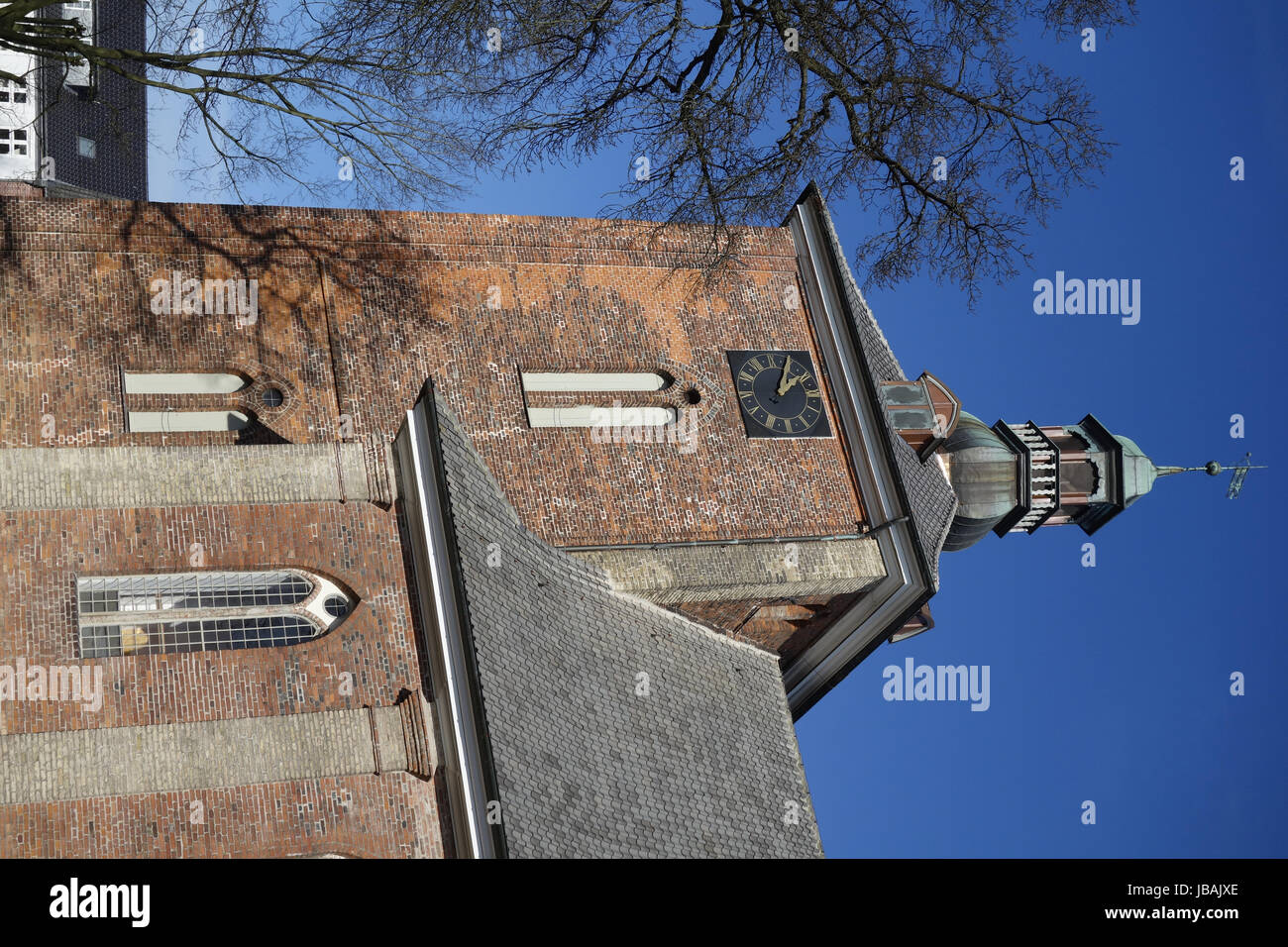 ev. christ church in rendsburg - Stock Image