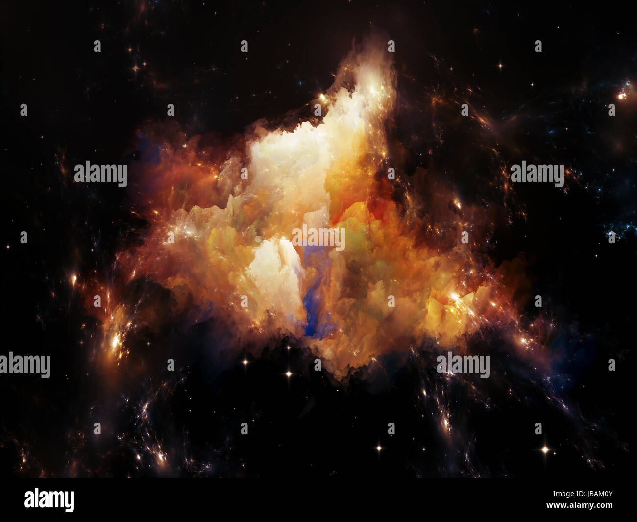 Universe Is Not Enough series. Composition of fractal elements, lights and textures with metaphorical relationship - Stock Image