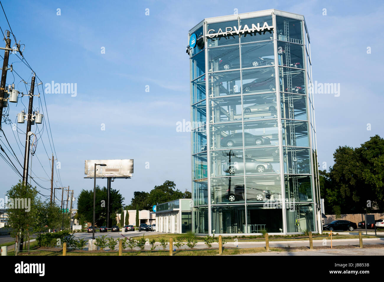 A Carvana car vending machine location in Houston, Texas, on May 27, 2017. Stock Photo