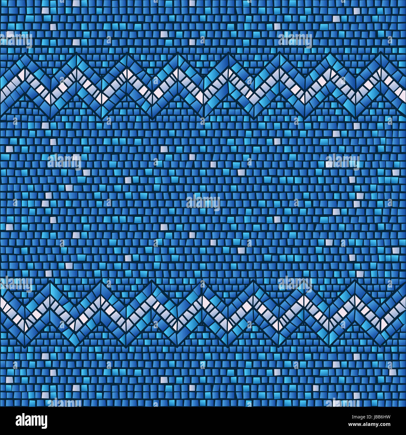 Blue ceramic tile mosaic seamless background pattern Stock Photo ...