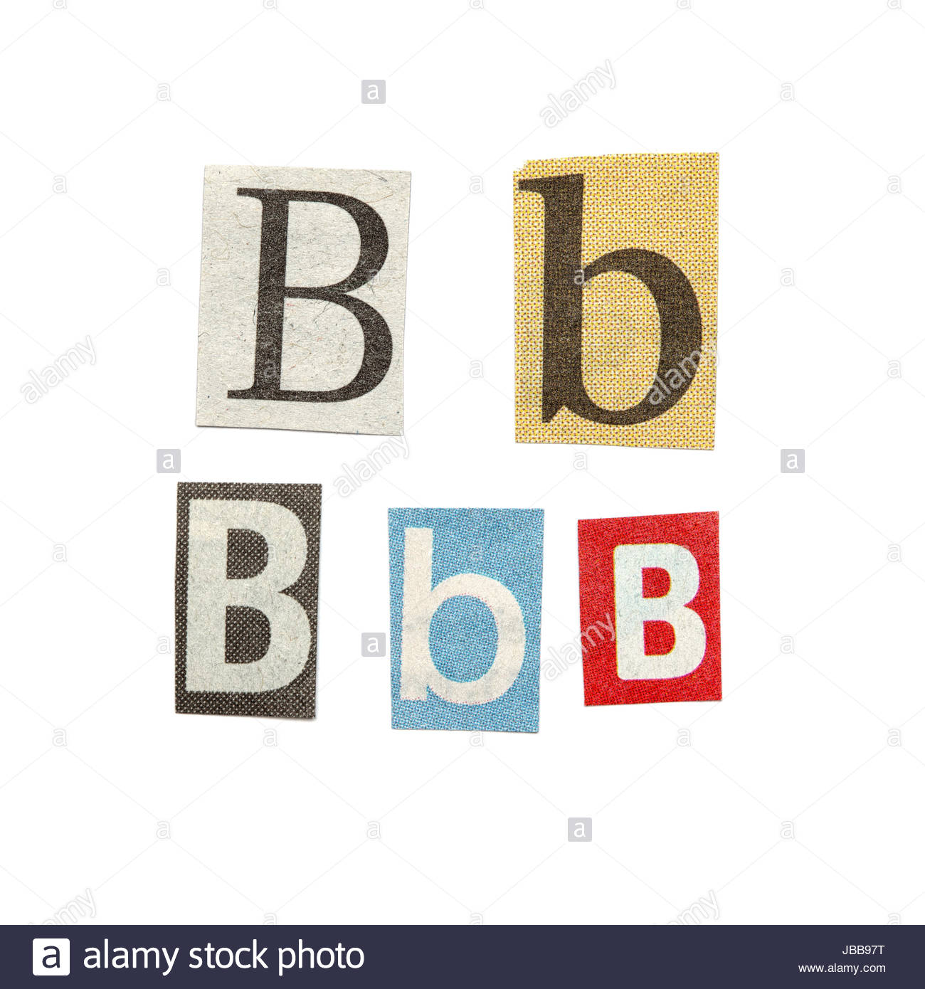 Set of letters cut out from different news papers and magazines as set of letters cut out from different news papers and magazines as design elements isolated on white background spiritdancerdesigns Images