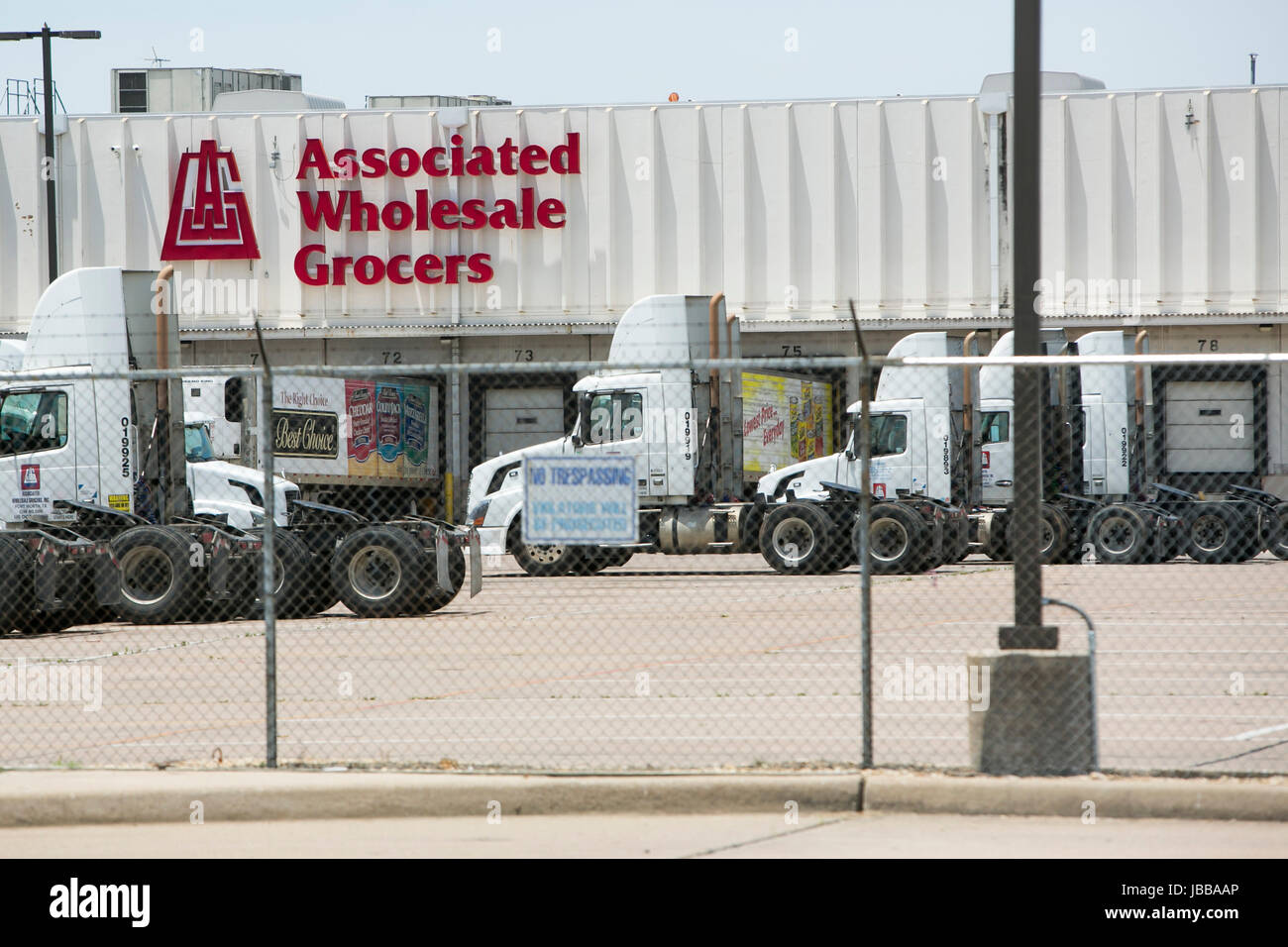 A logo sign outside of a facility occupied by Associated Wholesale Grocers, Inc., in Fort Worth, Texas, on May 29, - Stock Image