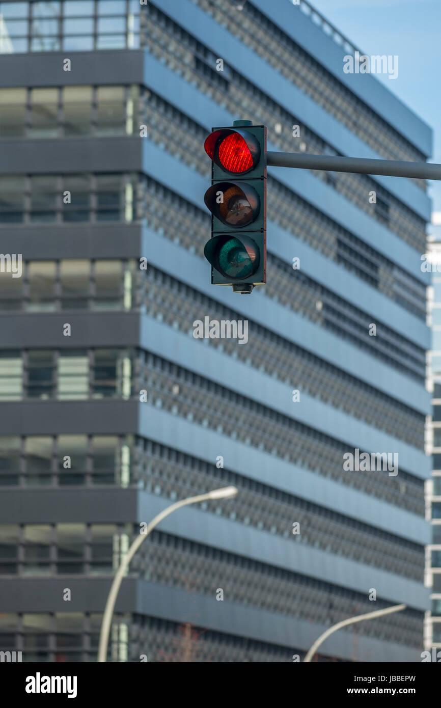 Ampel in Hamburg, Deutschland - Stock Image