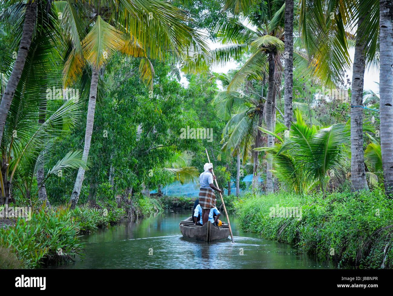 Kerala And Backwaters Landscape Stock Photo Alamy