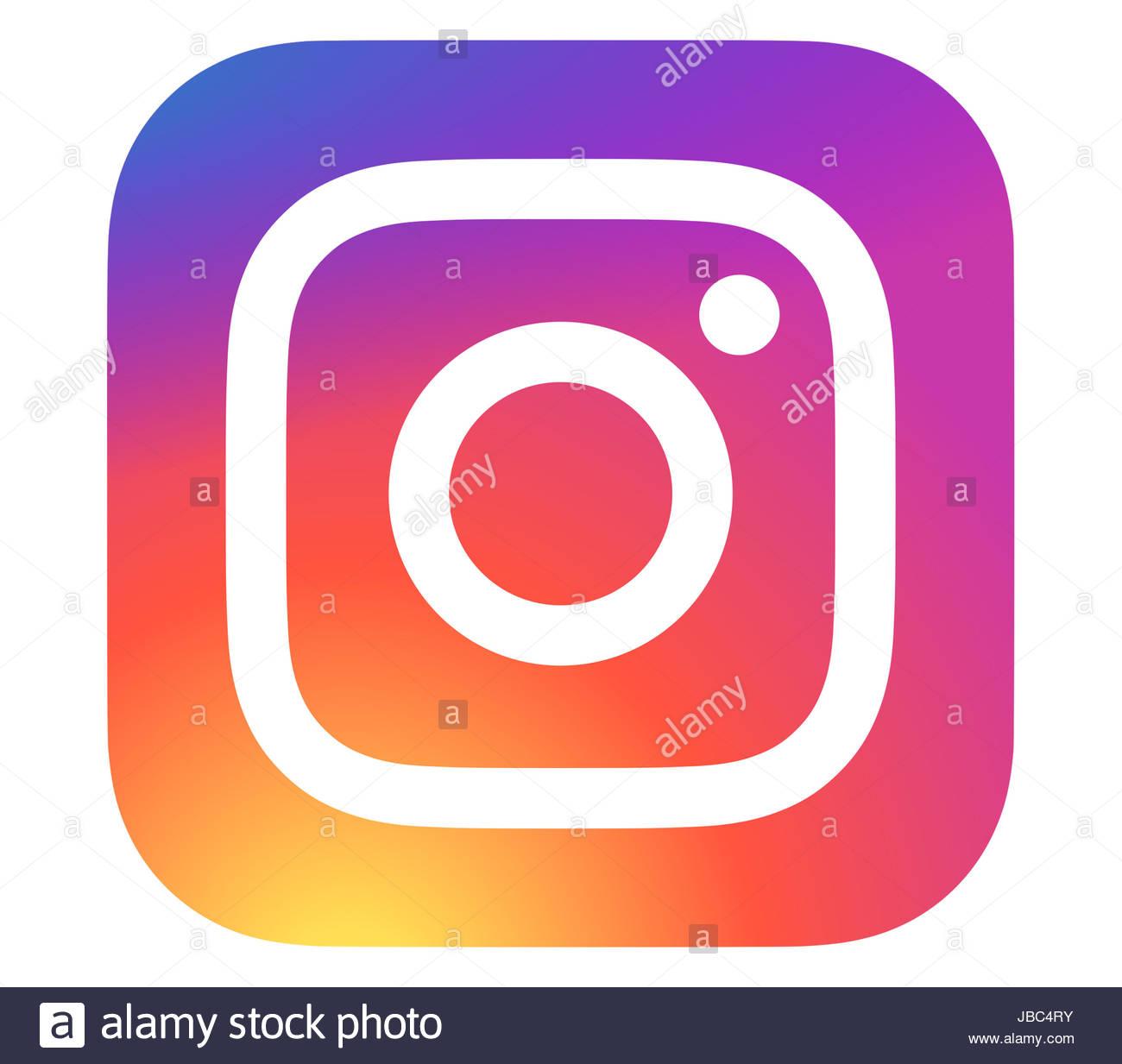 Instagram icon logo - Stock Image