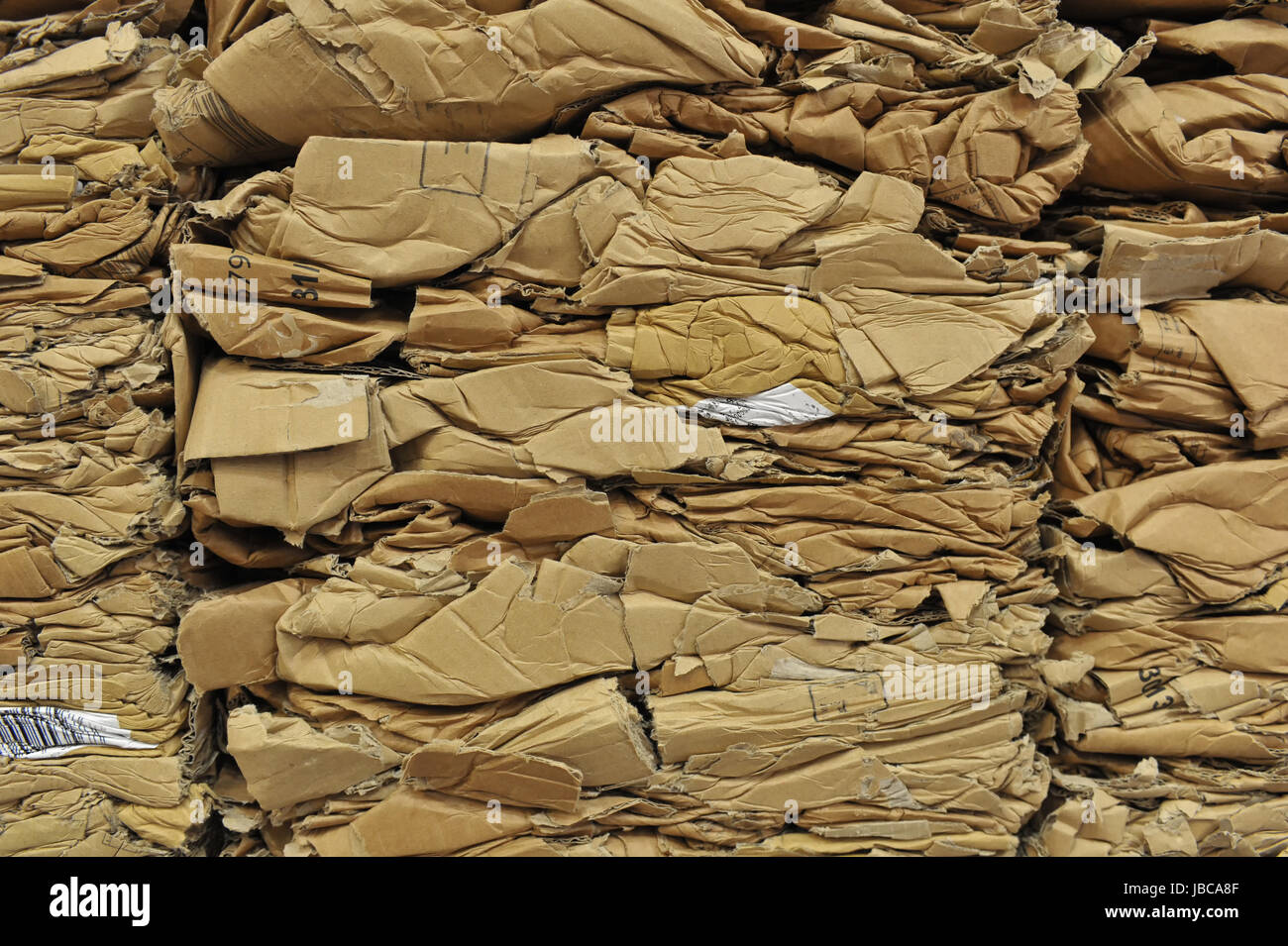 Altkarton-Recycling Paper recycling Stock Photo