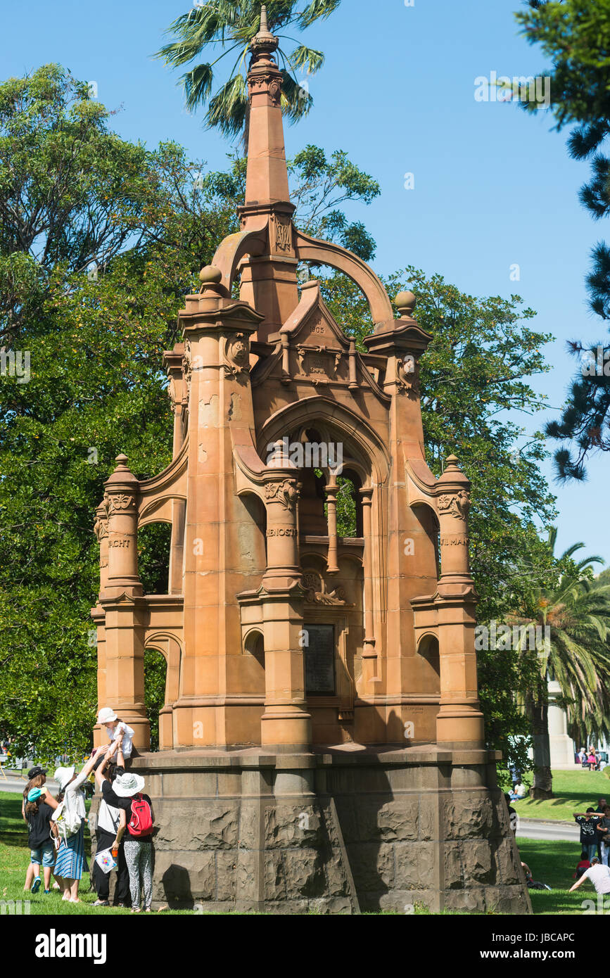 South African War Memorial (aka Memorial to Fallen Soldiers, and Monument to the 5th Victorian Contingent), 1904. - Stock Image