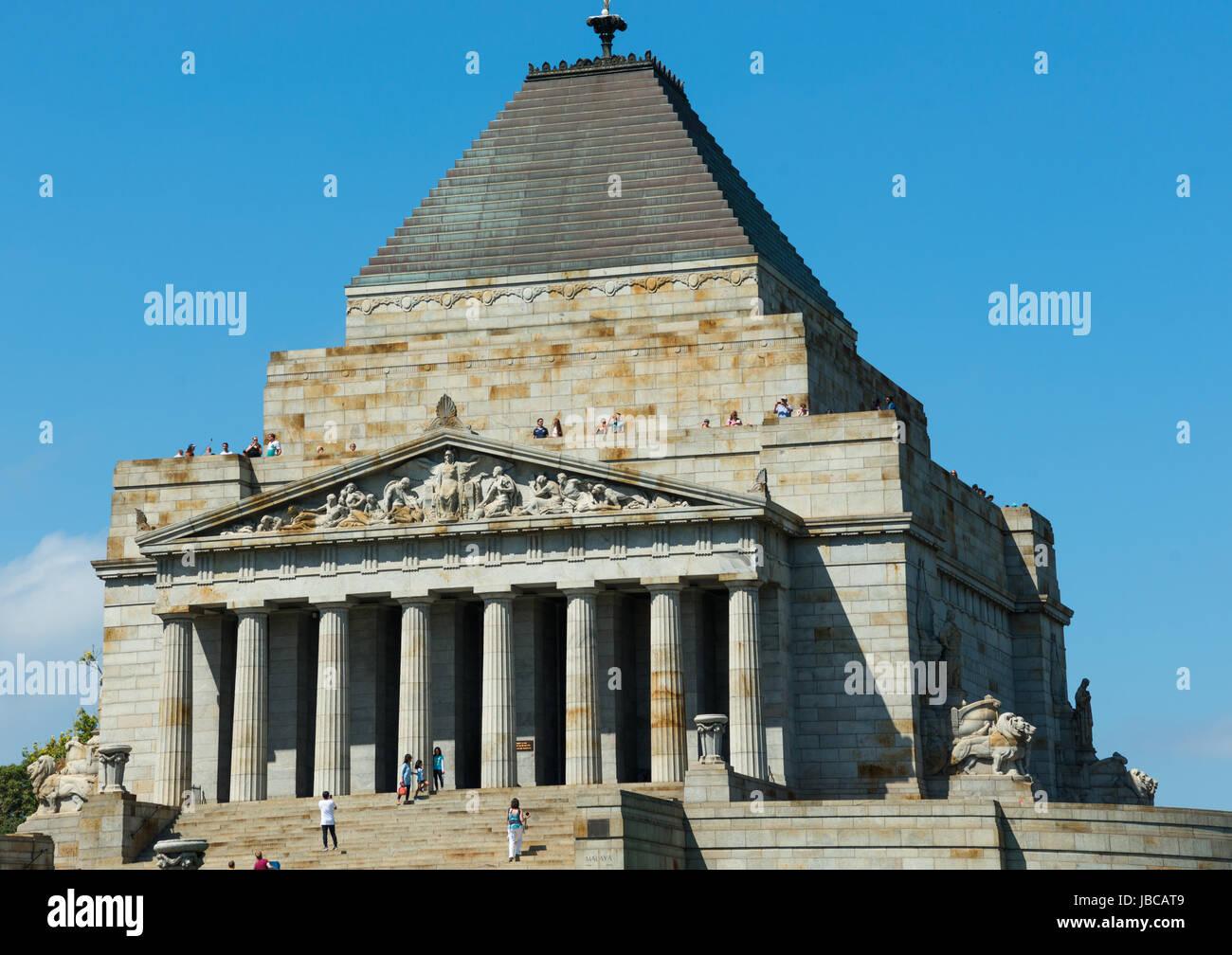 Shrine of Rememberance Melbourne Victoria Australia. - Stock Image