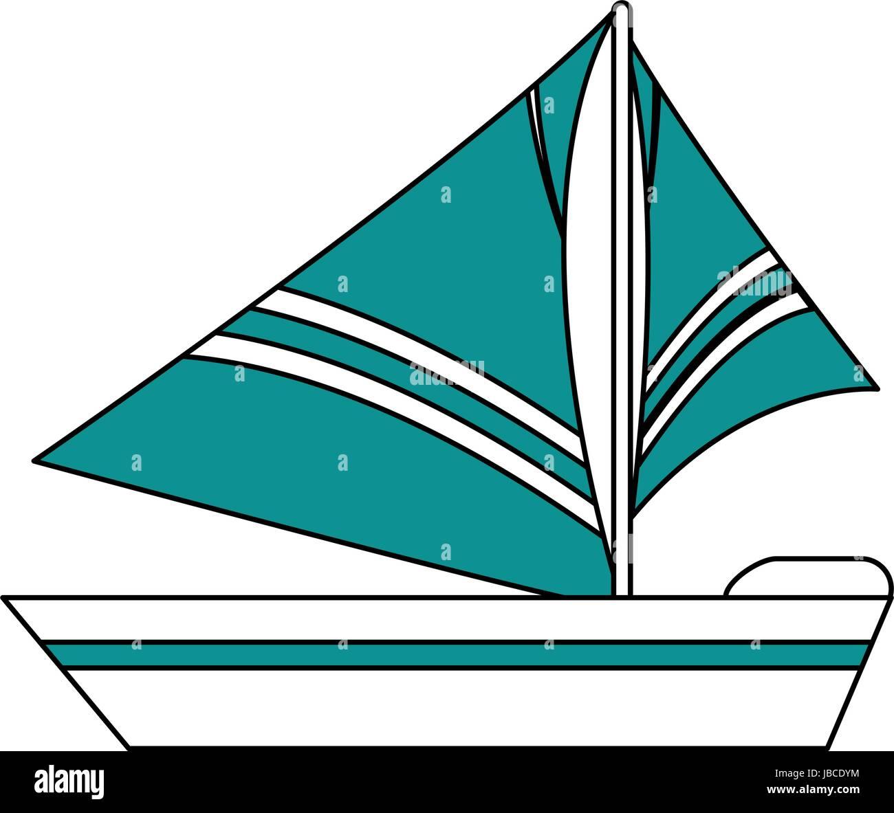 Sailboat icon design - Stock Vector