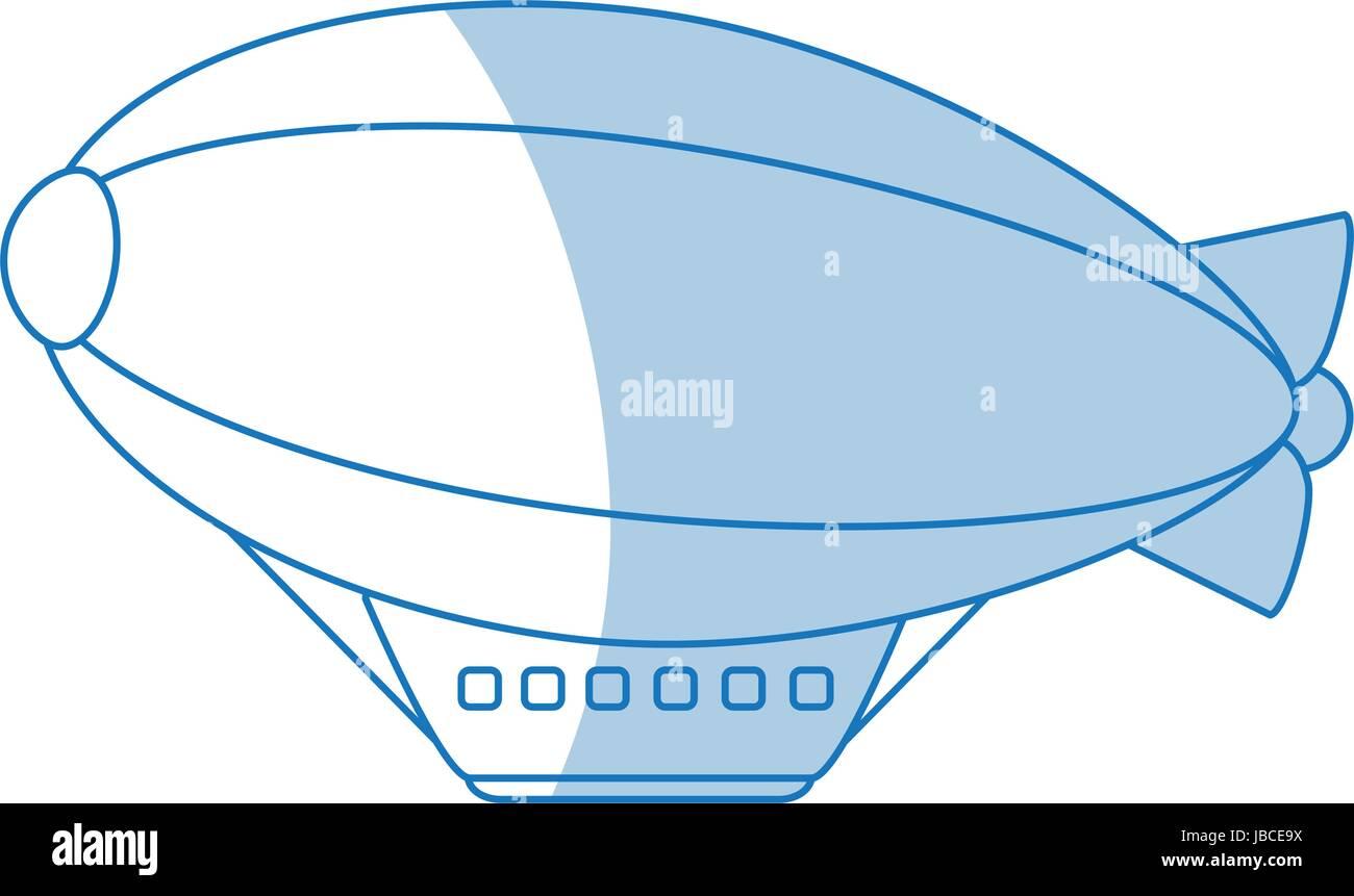 Dirigible icon design - Stock Vector