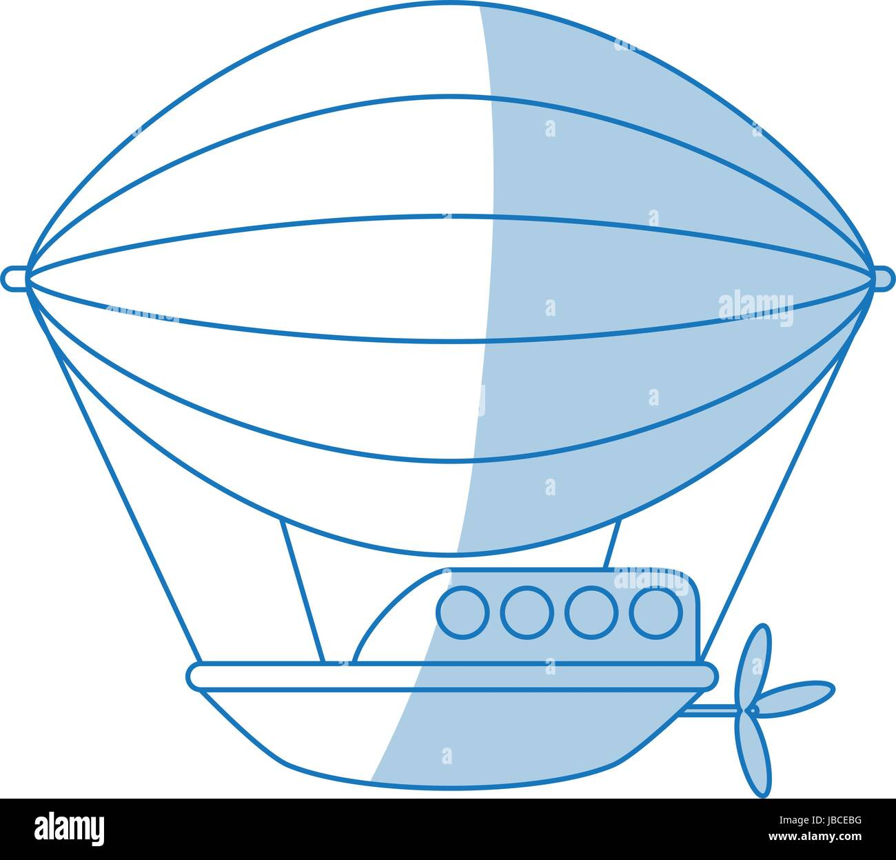 Dirigible icon design - Stock Vector