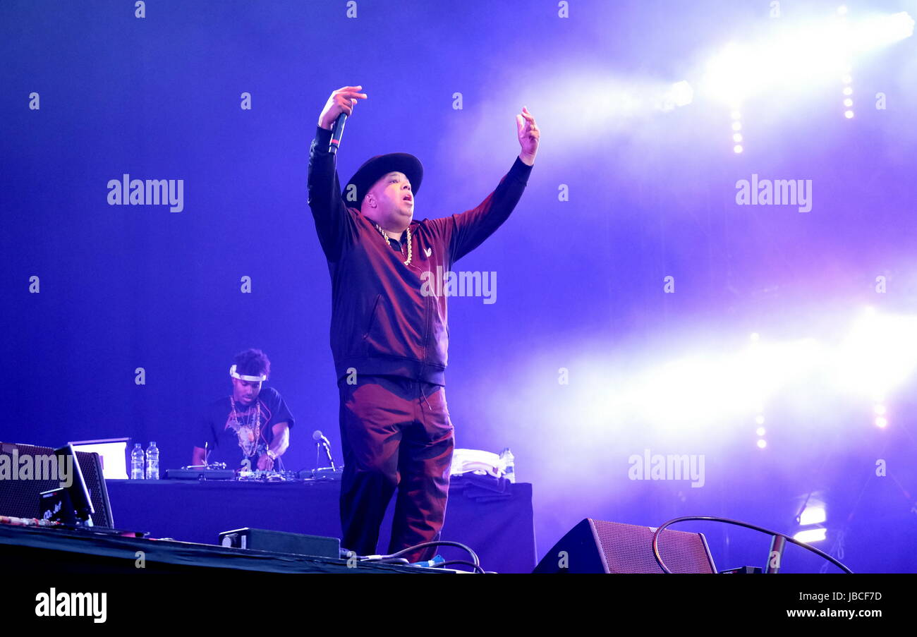 Newport, Isle of Wight, UK. 9th June, 2017. Isle of Wight Festival Day 2 - American Hip-hop artists Run DMC  performing - Stock Image