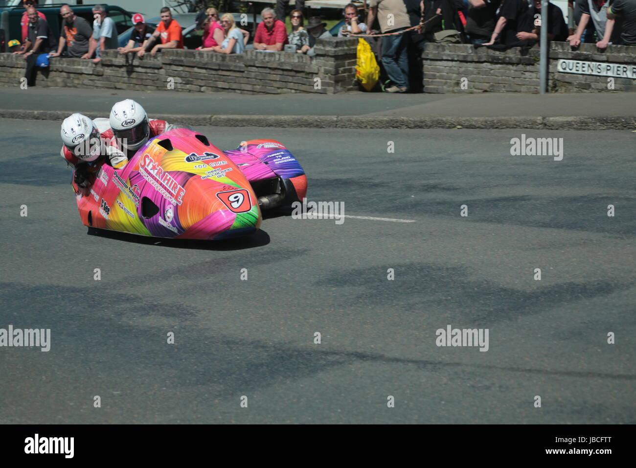 Isle Of Man, British Isles (UK). 9th June, 2017.  Fan Favorites, number 9 Steve Ramsden and Matty Ramsden (LCR / Stock Photo