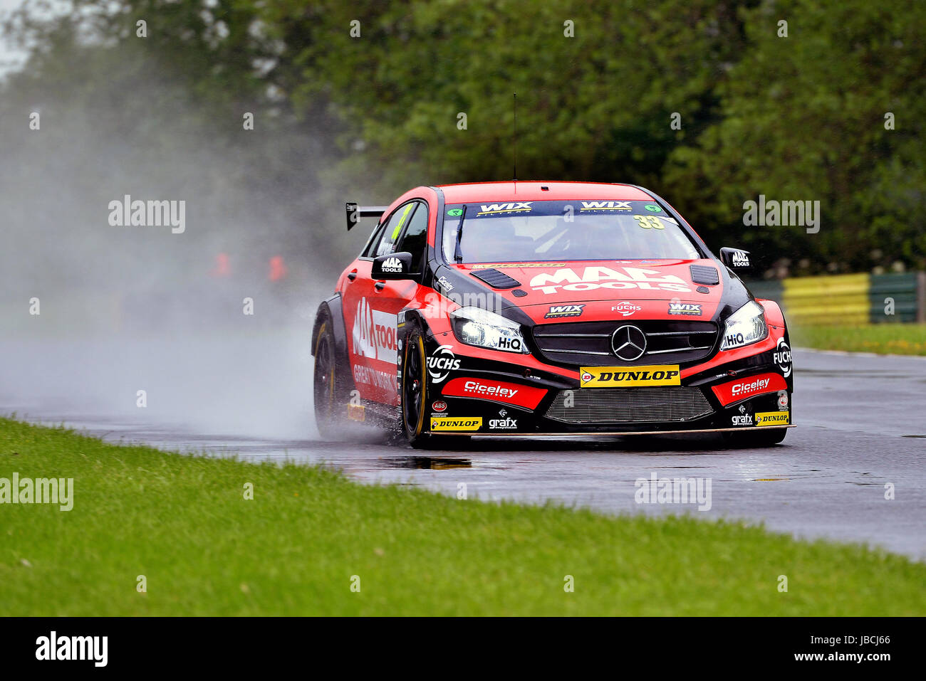 Dalton On Tees, UK. 10, June, 2017. Adam Morgan driving car number 33, the Mercedes-Benz A-Class for Ciceley Motorsport, - Stock Image