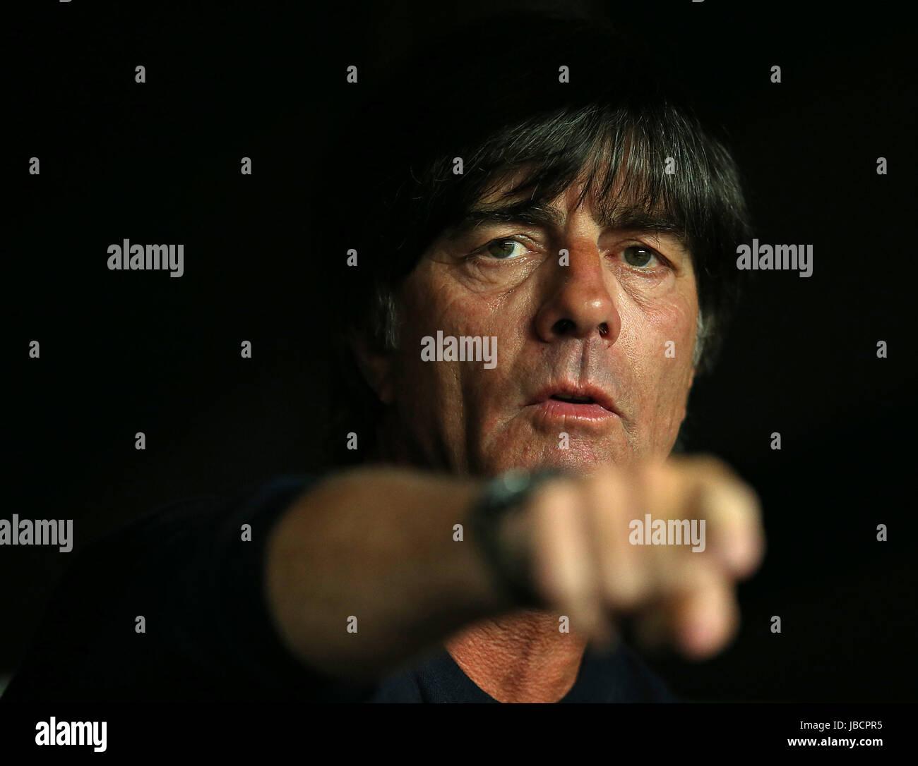 06.06.2017, Fussball Länderspiel, Dänemark - Deutschland, in Brondby Stadion Kopenhagen, Bundestrainer Joachim Löw Stock Photo