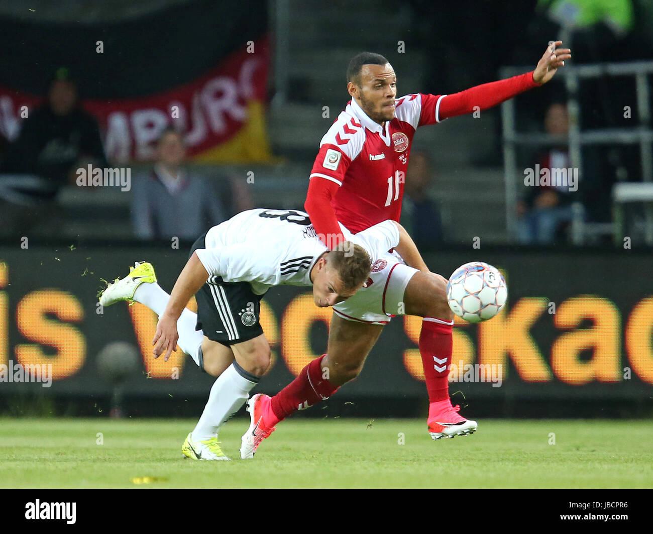 06.06.2017, Fussball Länderspiel, Dänemark - Deutschland, in Brondby Stadion Kopenhagen, v.l. Joshua Kimmich (Deutschland) Stock Photo