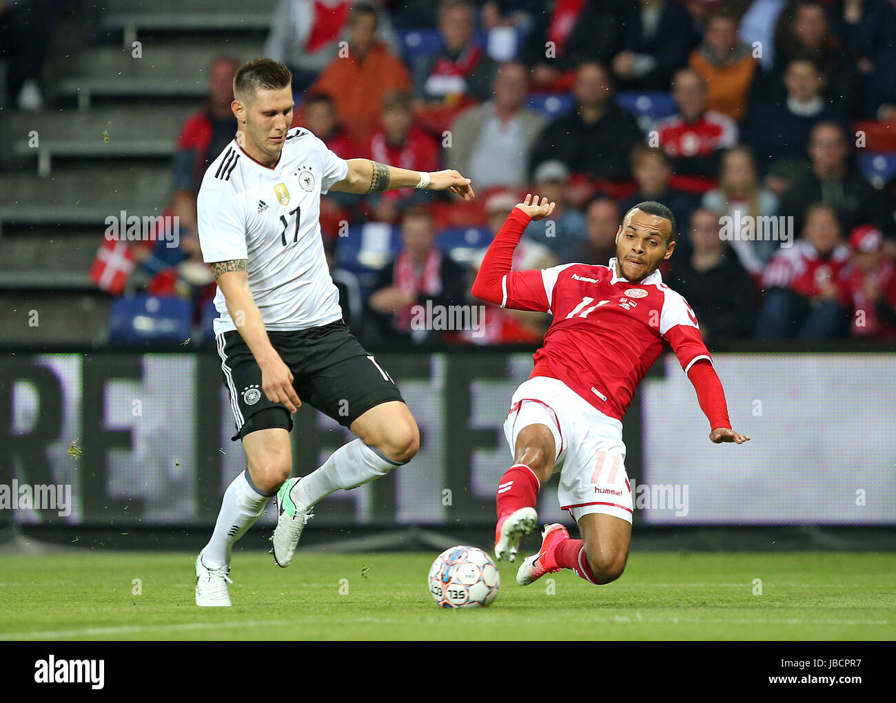 06.06.2017, Fussball Länderspiel, Dänemark - Deutschland, in Brondby Stadion Kopenhagen, v.l. Niklas Süle (Deutschland) Stock Photo