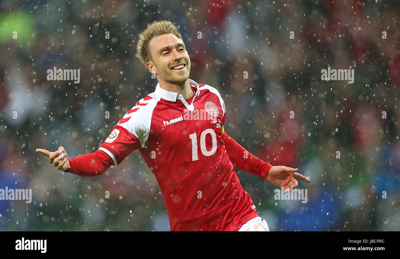 06.06.2017, Fussball Länderspiel, Dänemark - Deutschland, in Brondby Stadion Kopenhagen, Jubel Torschütze Christian Stock Photo