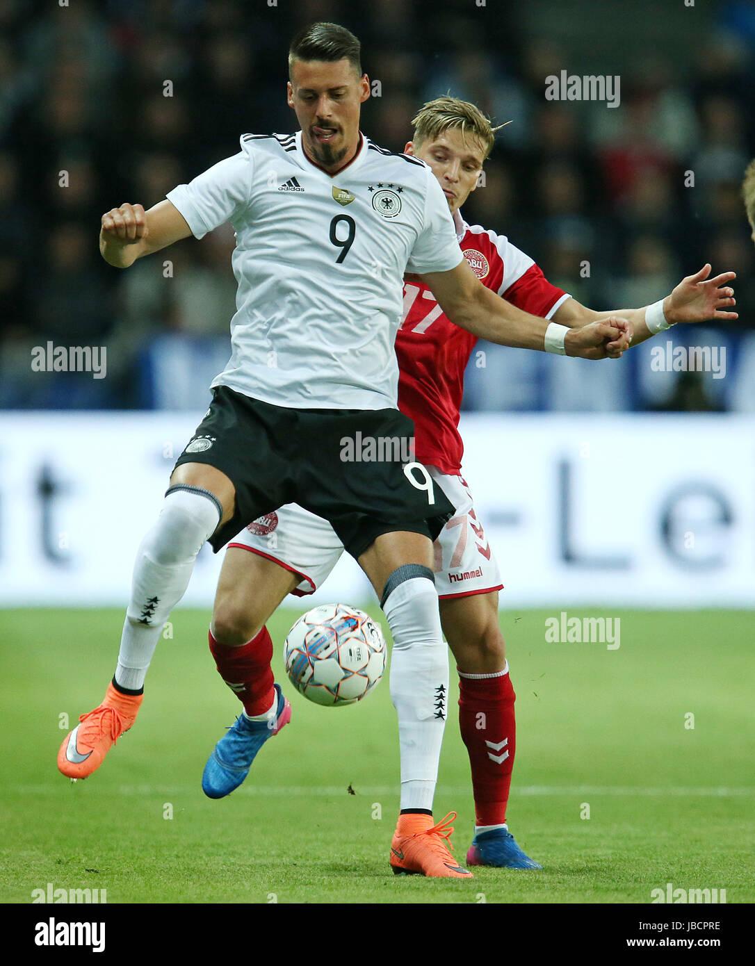 06.06.2017, Fussball Länderspiel, Dänemark - Deutschland, in Brondby Stadion Kopenhagen, v.l. Sandro Wagner (Deutschland) Stock Photo