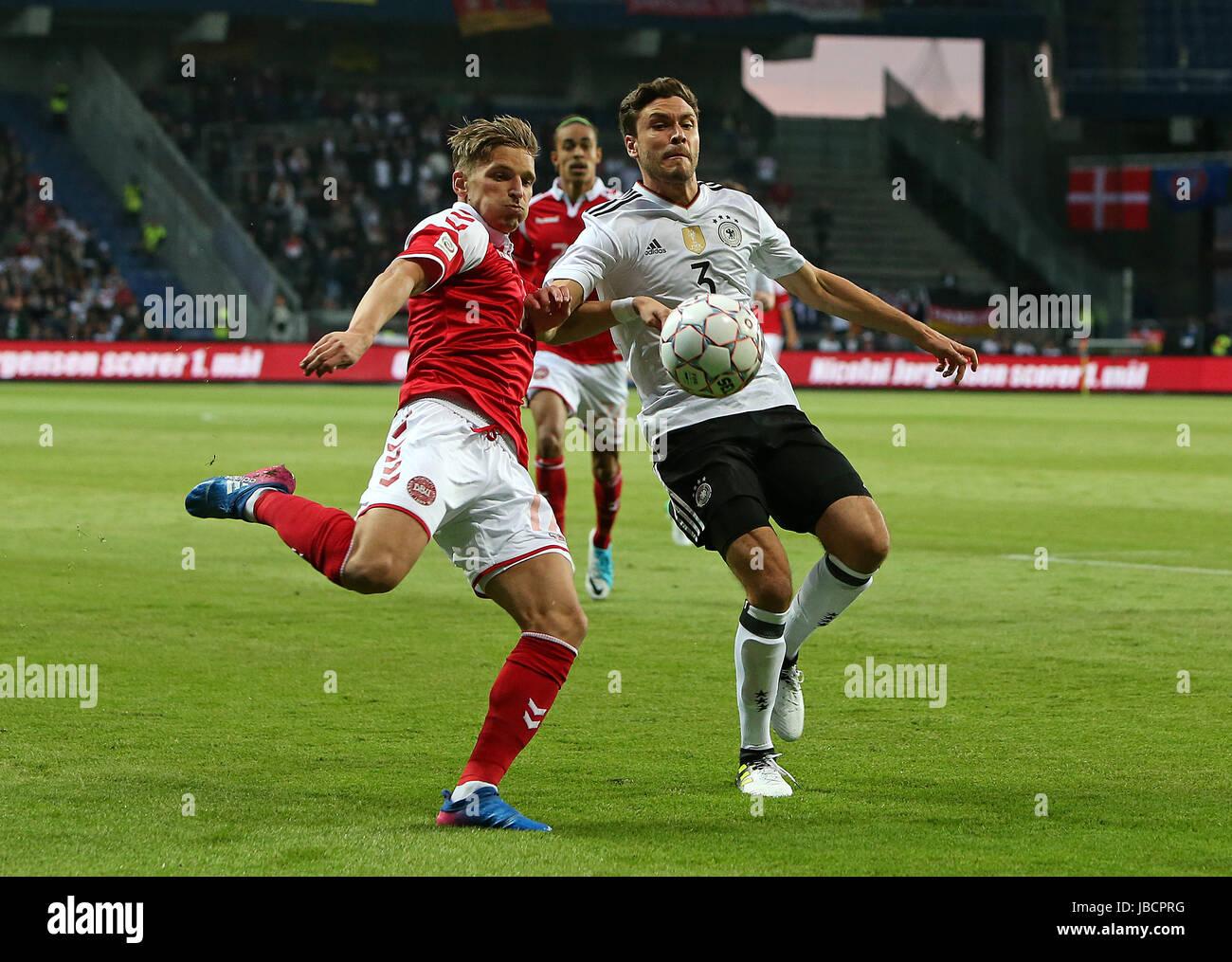 06.06.2017, Fussball Länderspiel, Dänemark - Deutschland, in Brondby Stadion Kopenhagen, v.l. Jens Stryger Larsen Stock Photo