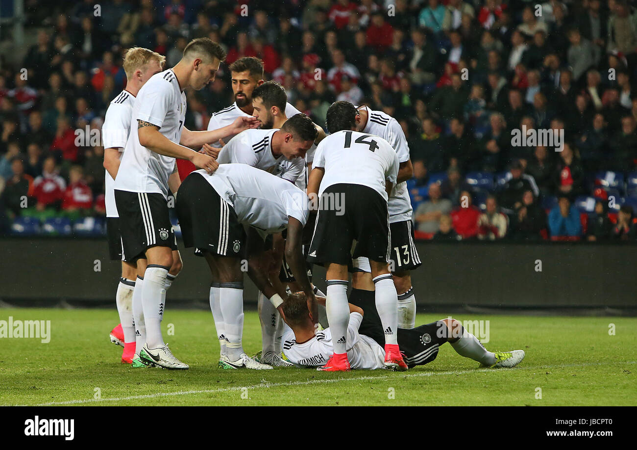 06.06.2017, Fussball Länderspiel, Dänemark - Deutschland, in Brondby Stadion Kopenhagen, Torschütze Joshua Kimmich Stock Photo