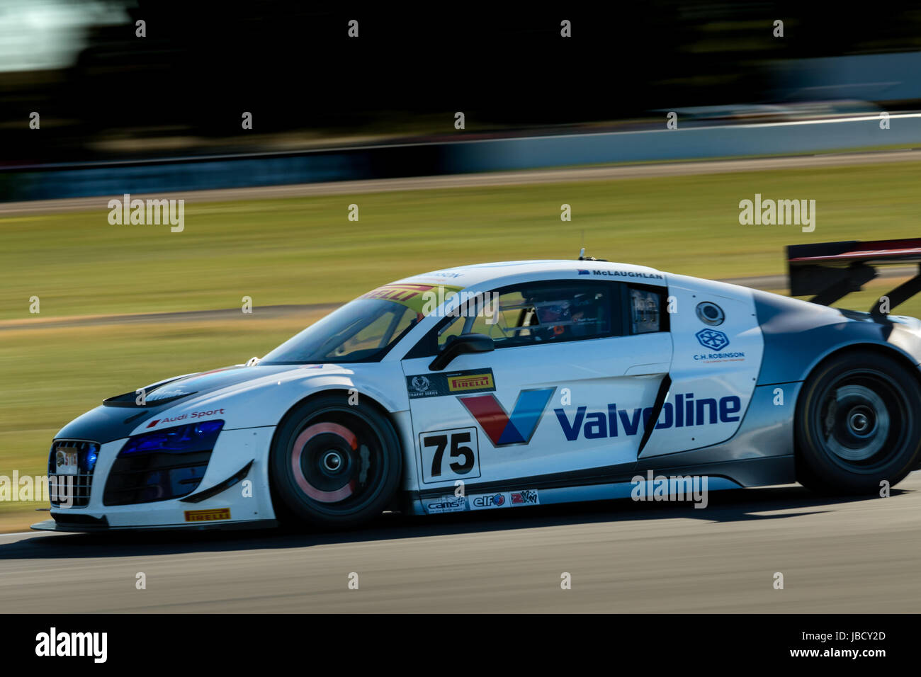 Melbourne, Australia. 11th June, 2017. Steve McLaughlan 75 driving for Audi Sport Customer Racing during the 2017 - Stock Image
