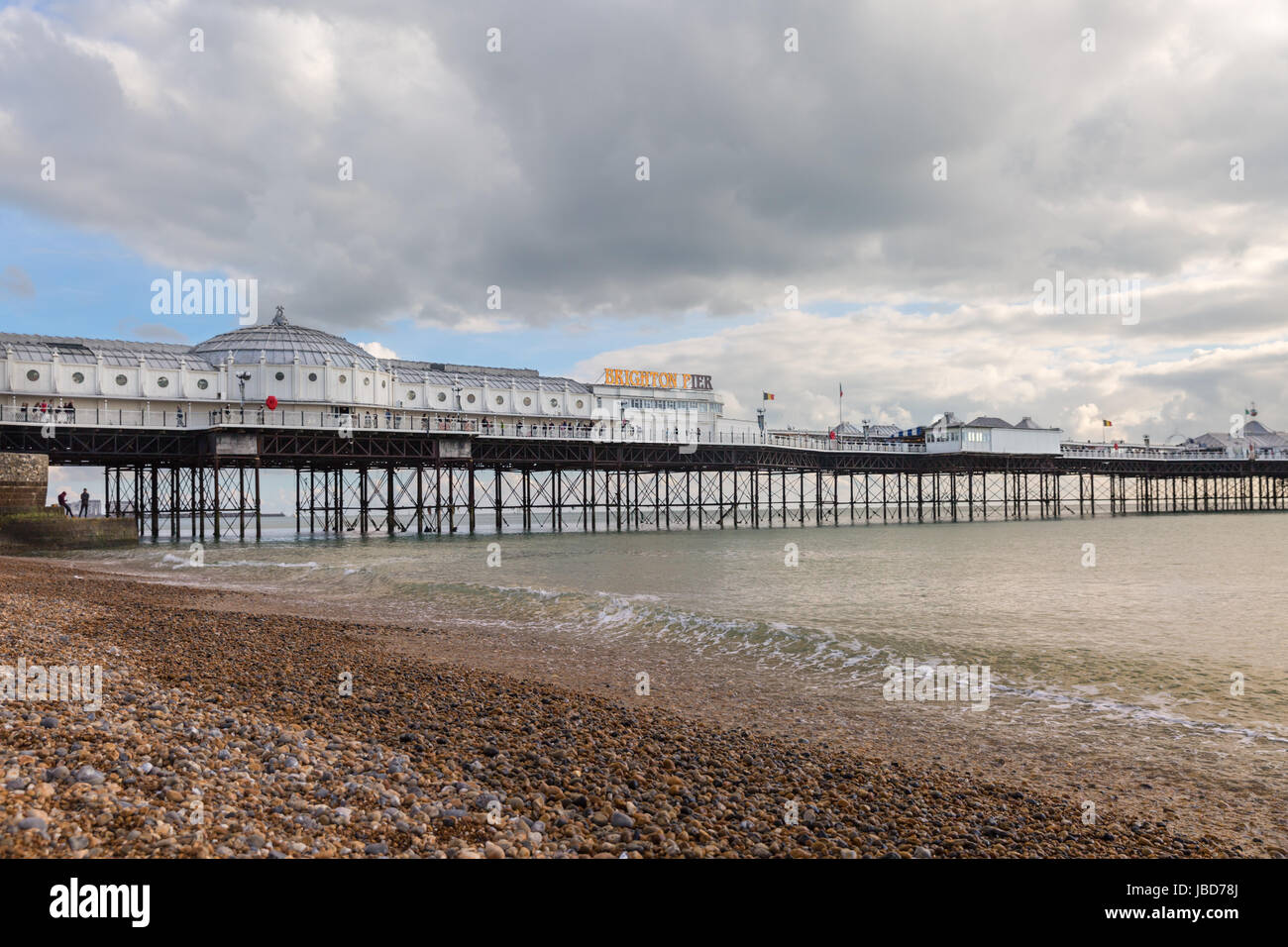 Brighton Palace Pier, Victorian Pleasure Pier in Brighton, England, UK - Stock Image