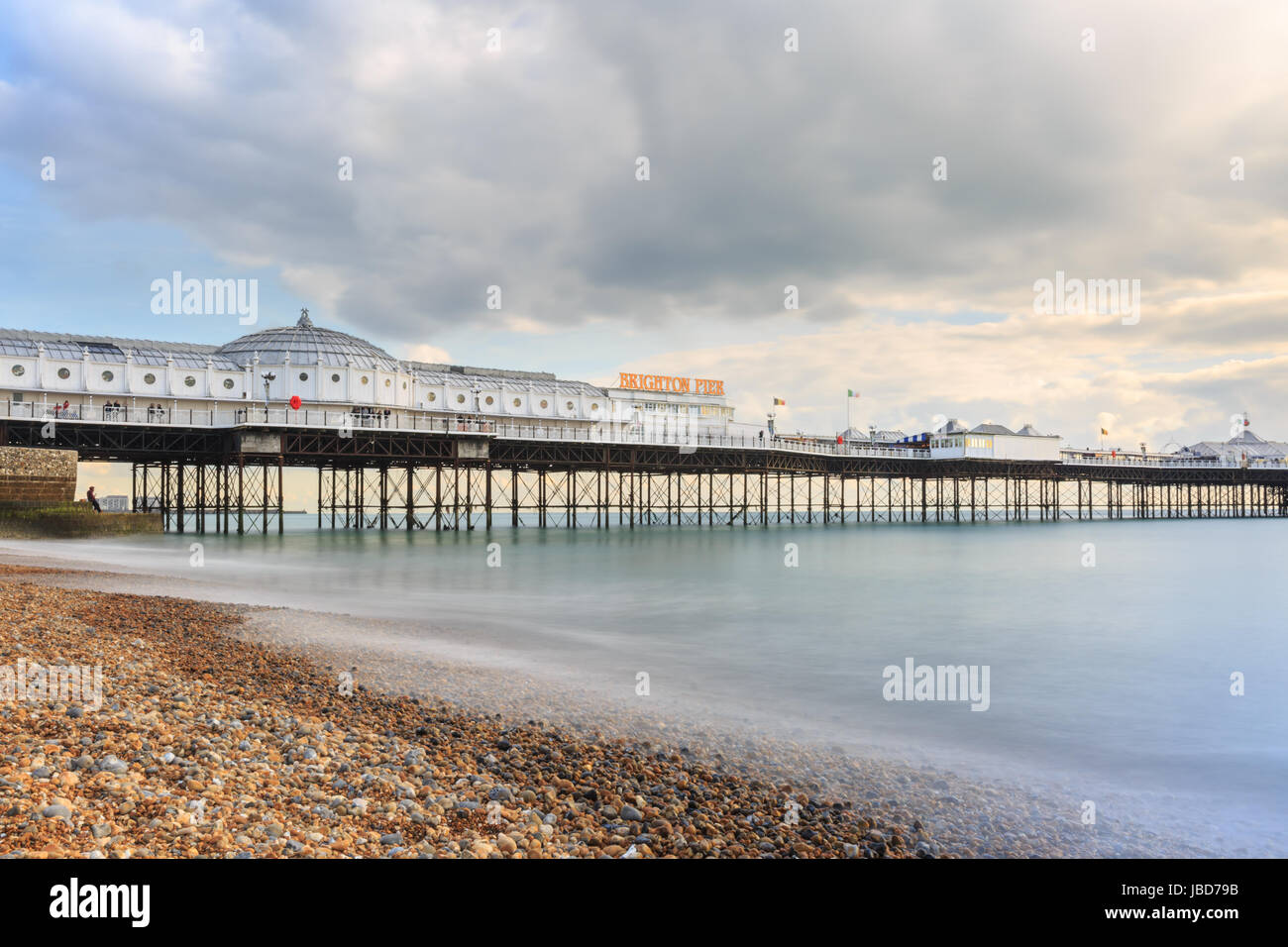 Brighton Palace Pier, Victorian Pleasure Pier in Brighton, England, UK - Stock Image
