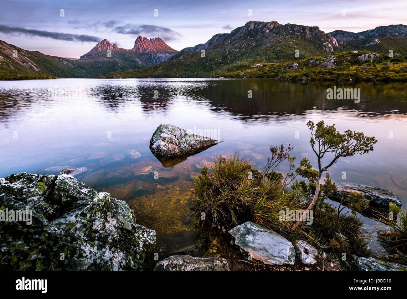 Cradle Mountain, Cradle Mountain-Lake St Clair National Park, Tasmania - Stock Image