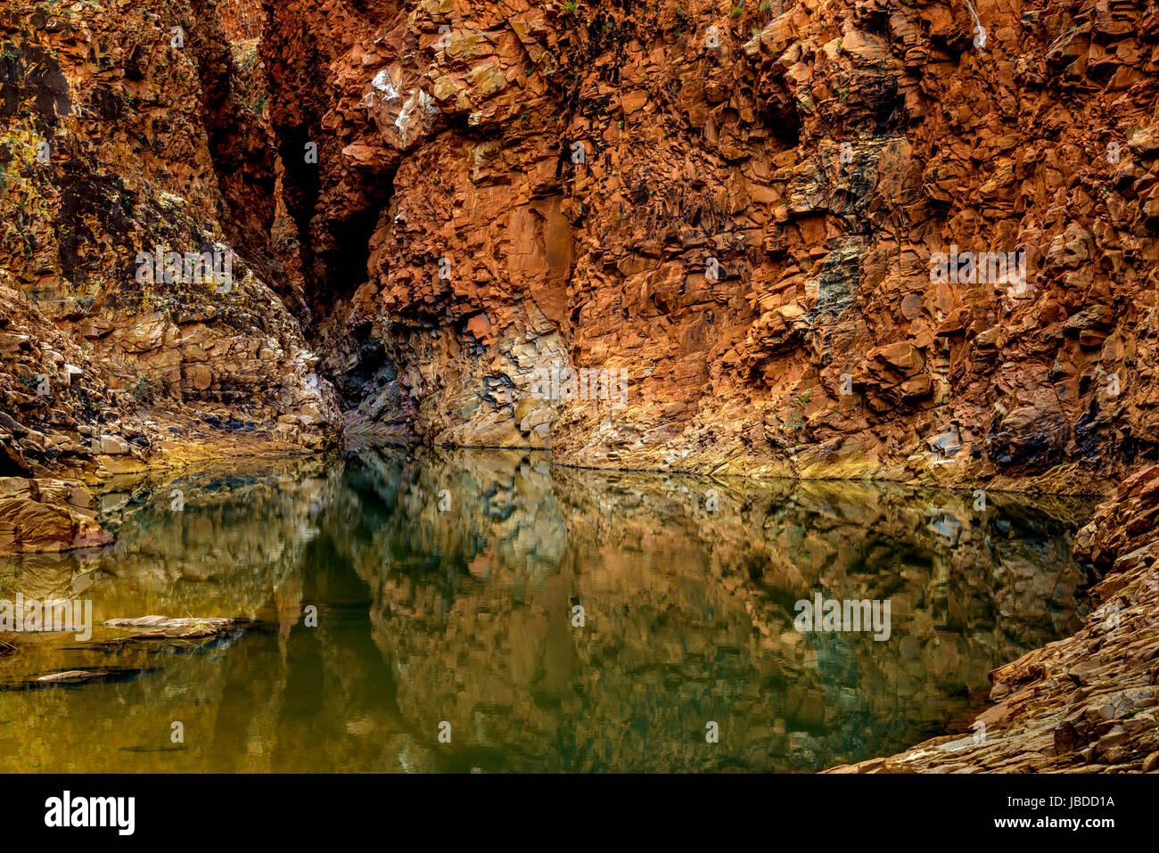 Redbank Gorge at West Macdonnell Ranges, Northern Territory Stock Photo