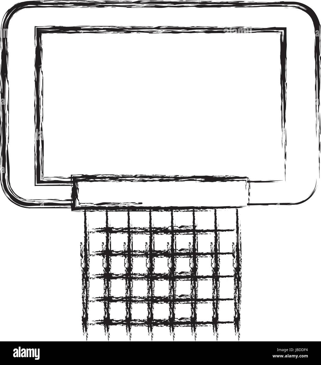 Sketch Draw Basketball Hoop Stock Vector Art Illustration Vector
