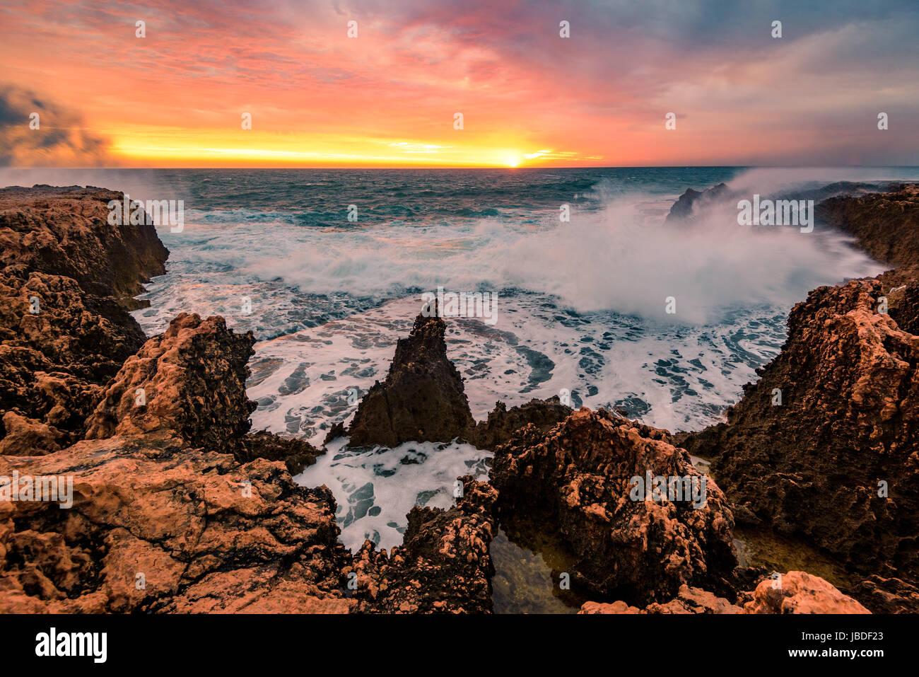 Quobba Coastline, Western Australia - Stock Image