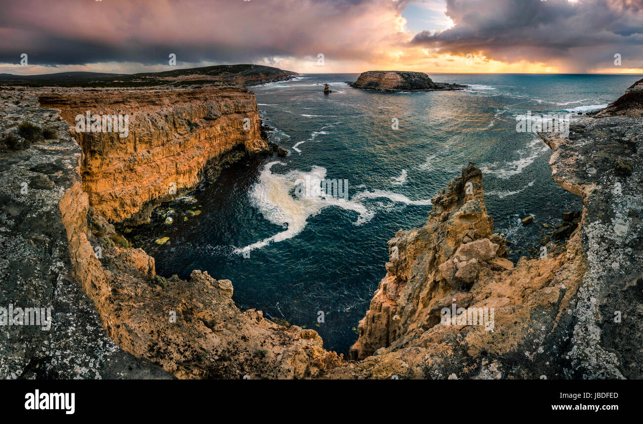 Wanna Cliffs of Port Lincoln in South Australia - Stock Image