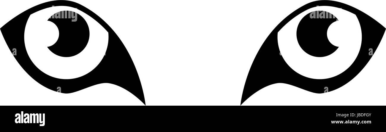 tiger eyes icon - Stock Image