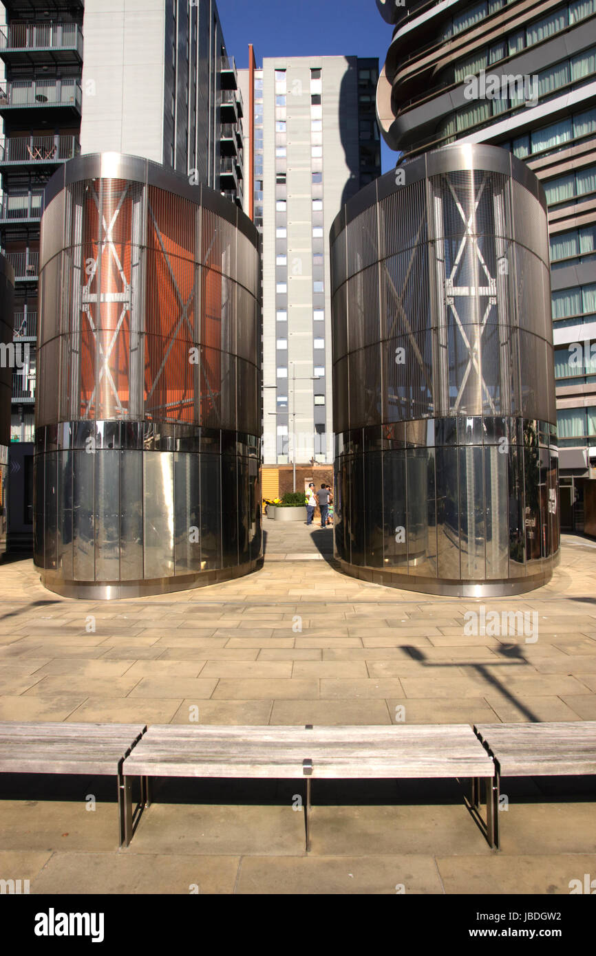 Base of Canaletto Tower City Road Islington London Stock Photo