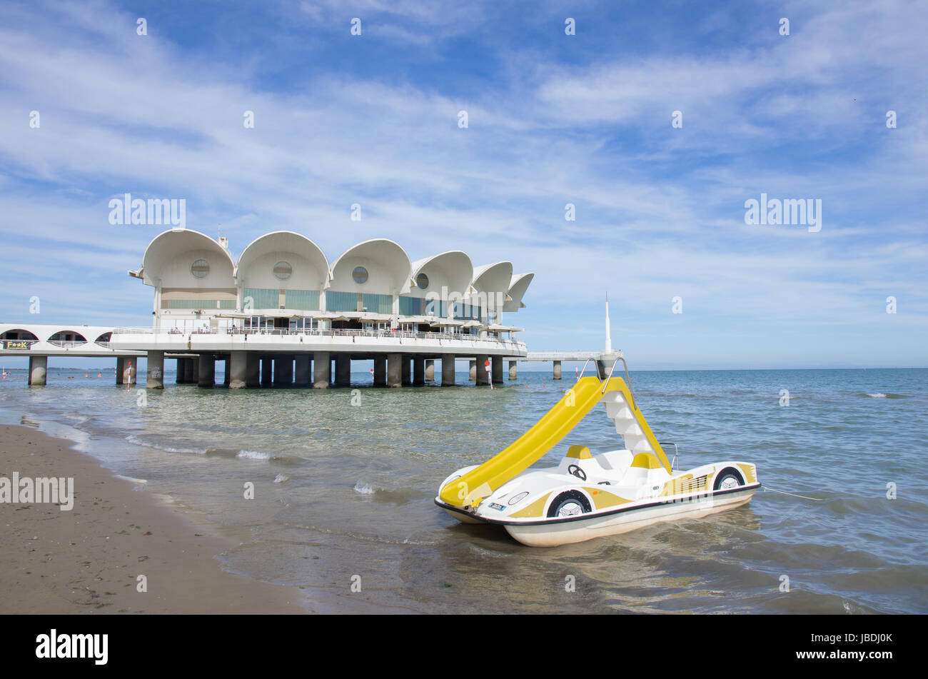 The Terrazza a mare, a symbol of the town of Lignano Sabbiadoro ...