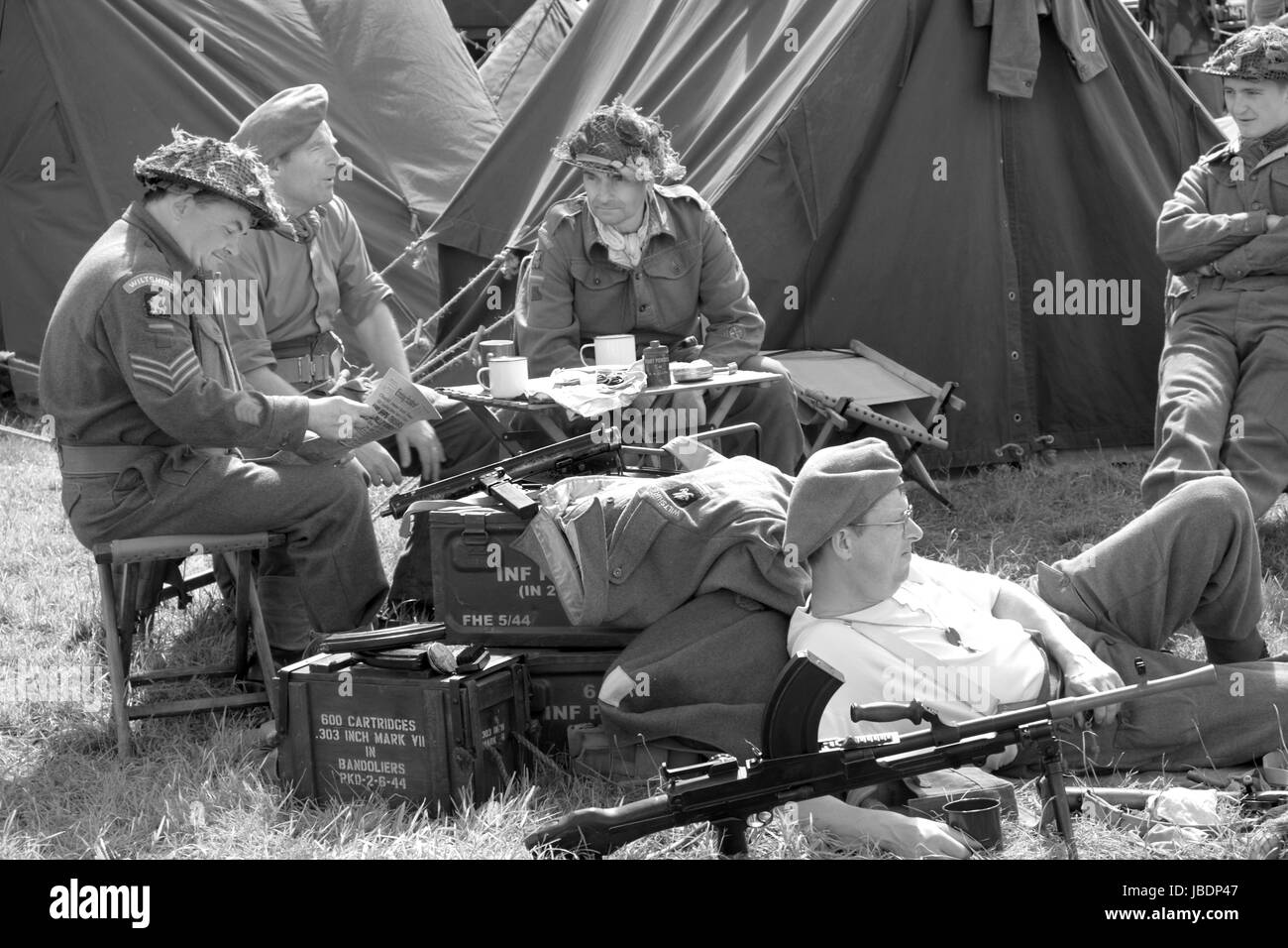 10th June 2017 - War and peace show at Wraxall in North Somerset.Engalnd. - Stock Image