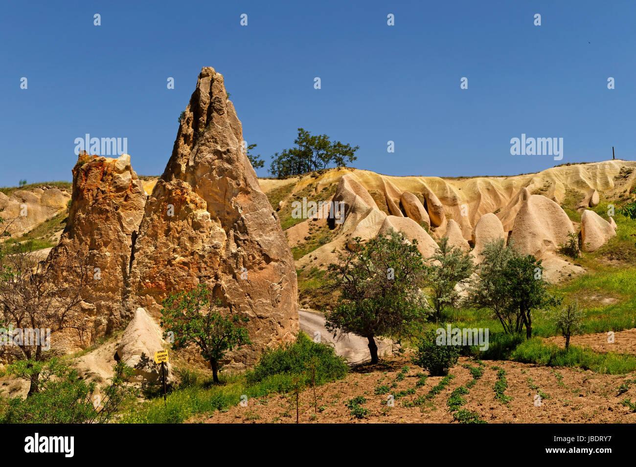 Goreme National Park, Cappadocia, Turkey - Stock Image