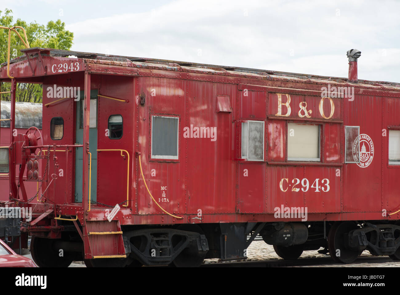 BALITMORE, MD - APRIL 15: B O Number C-2943 Caboose Baltimore Ohio Railroad on April 15, 2017 - Stock Image
