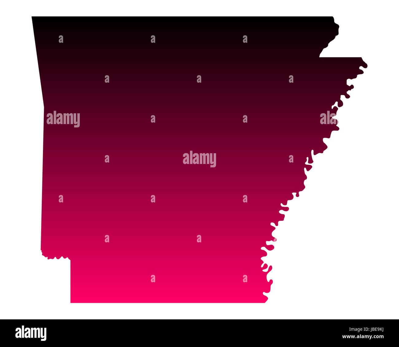 Karte von Arkansas - Stock Image