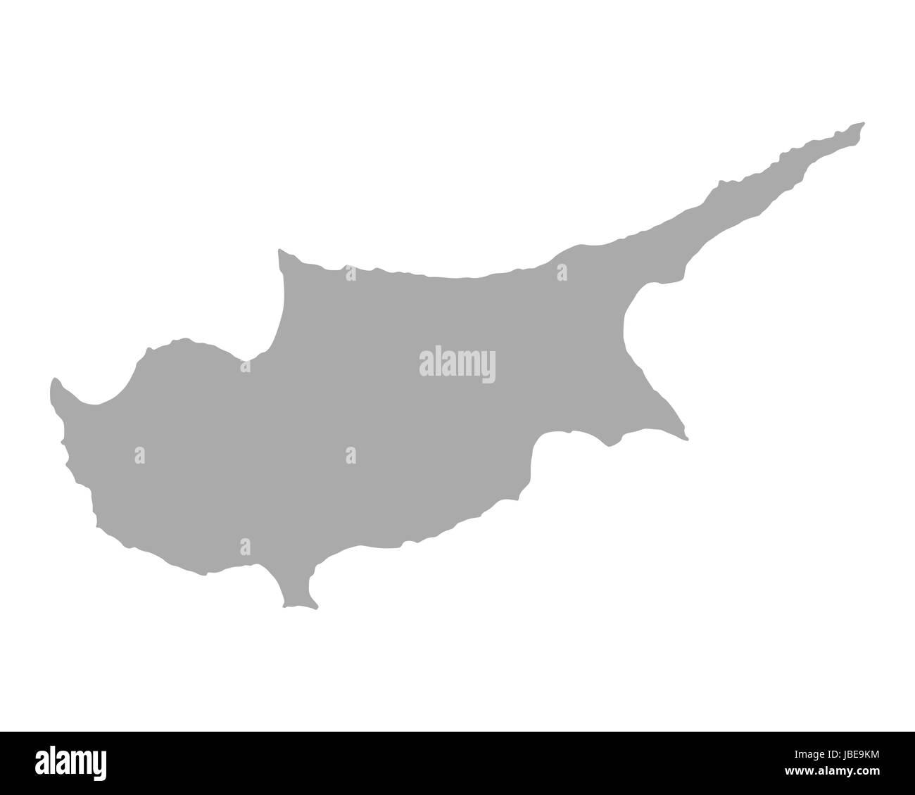 Karte von Zypern - Stock Image